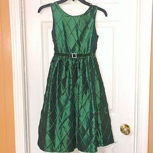 Emerald Christmas dress Kids12
